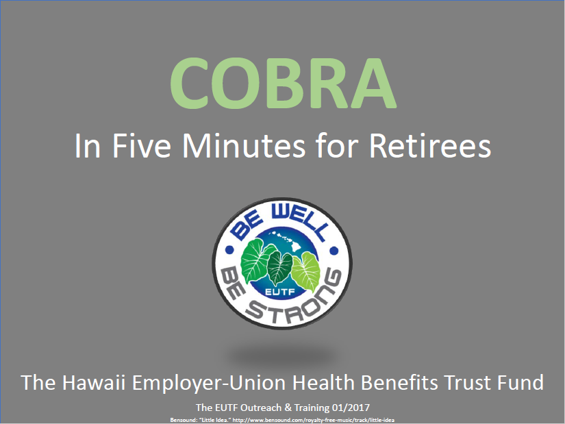 Cobra Enrollment for Retirees