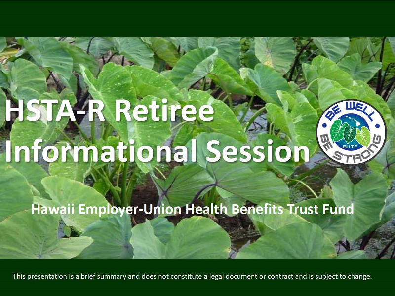 HSTA Retirement Informational Session