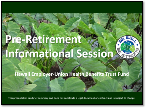 Pre-Retirement Informational Session