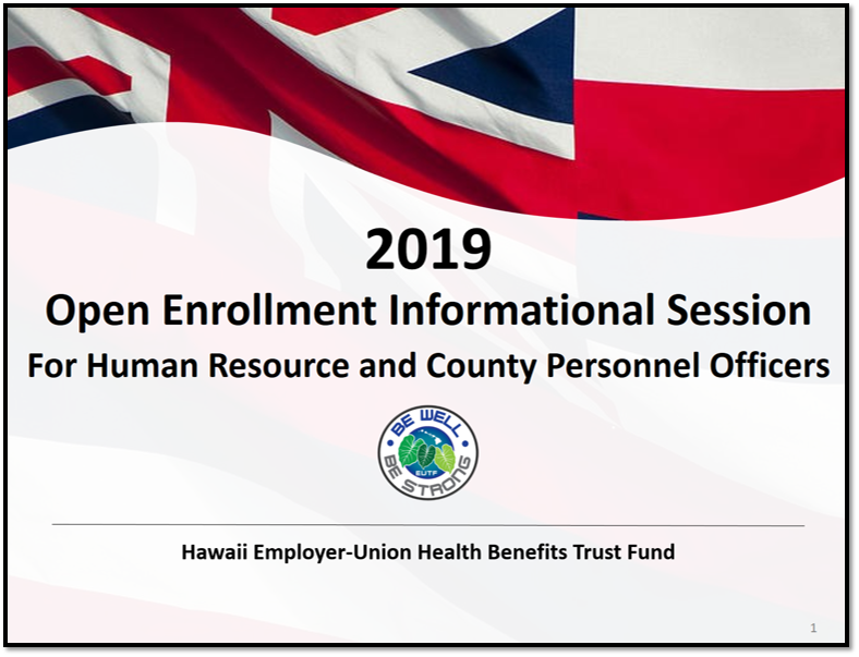 HRO Open Enrollment Informational Session
