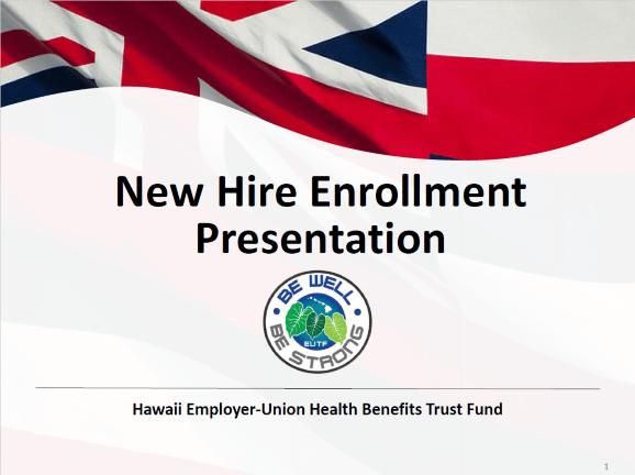 New Hire Enrollment Presentation
