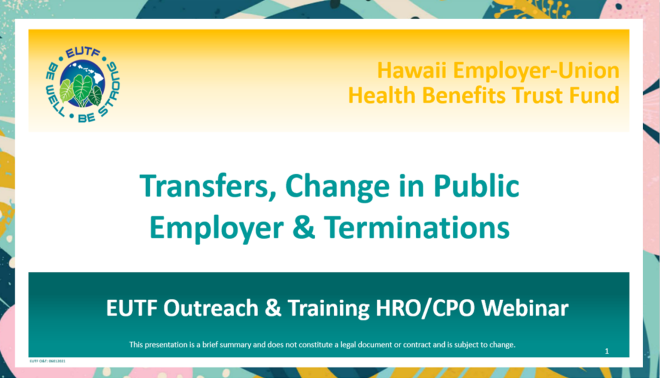 HRO Transfers Training