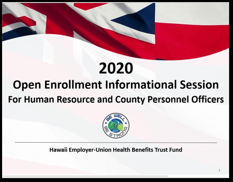 HRO Open Enrollment Informational Session